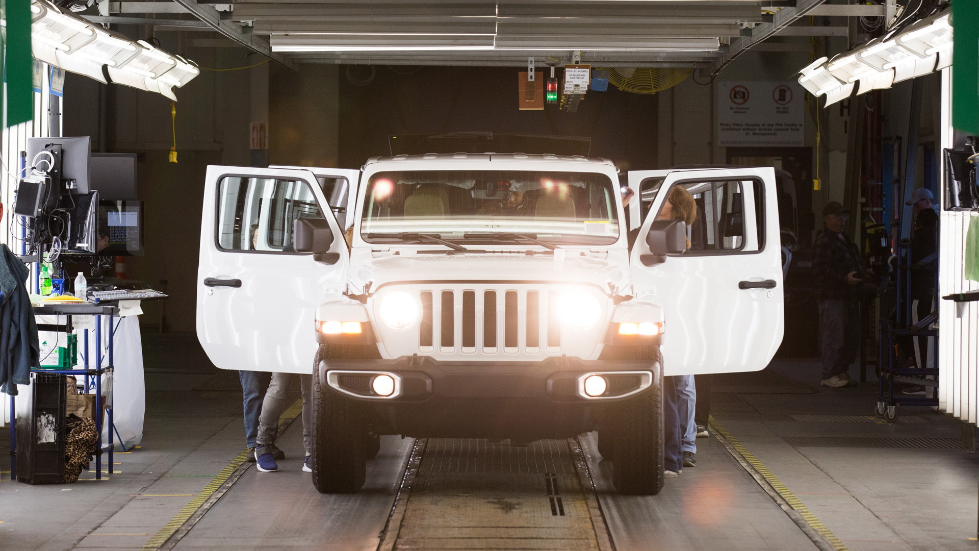 Jeep Wrangler production at Toledo Assembly Complex in Toledo, Ohio