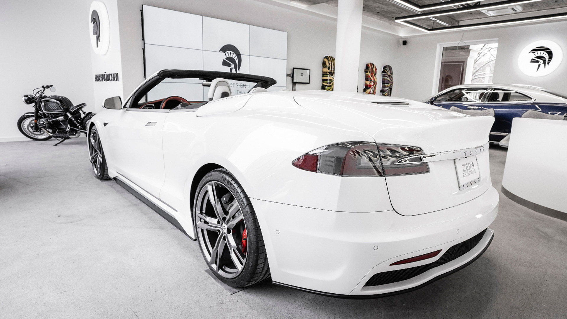 Tesla Model S convertible conversion by Ares