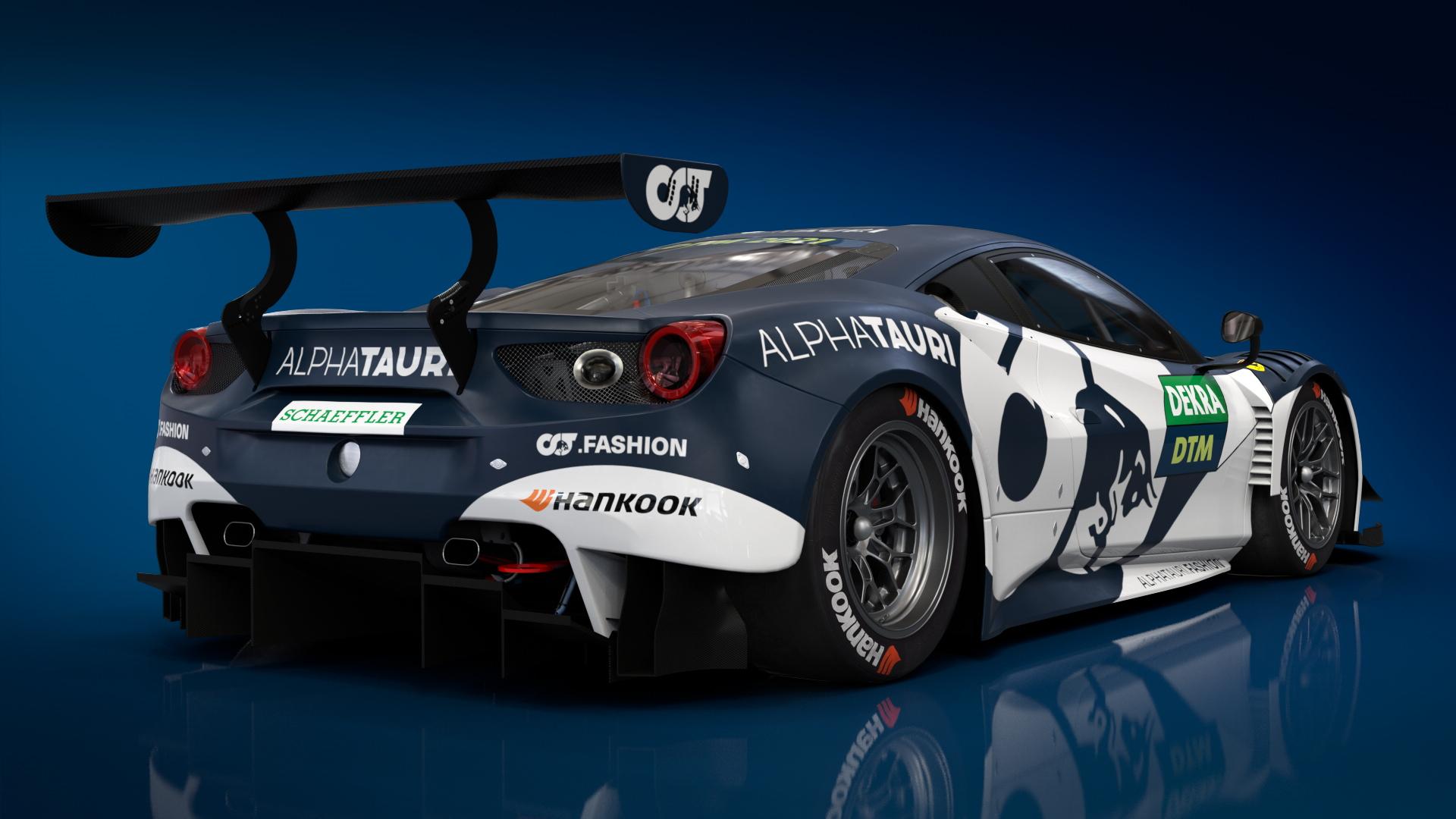 2021 AF Corse Ferrari 488 GT3 Evo DTM race car