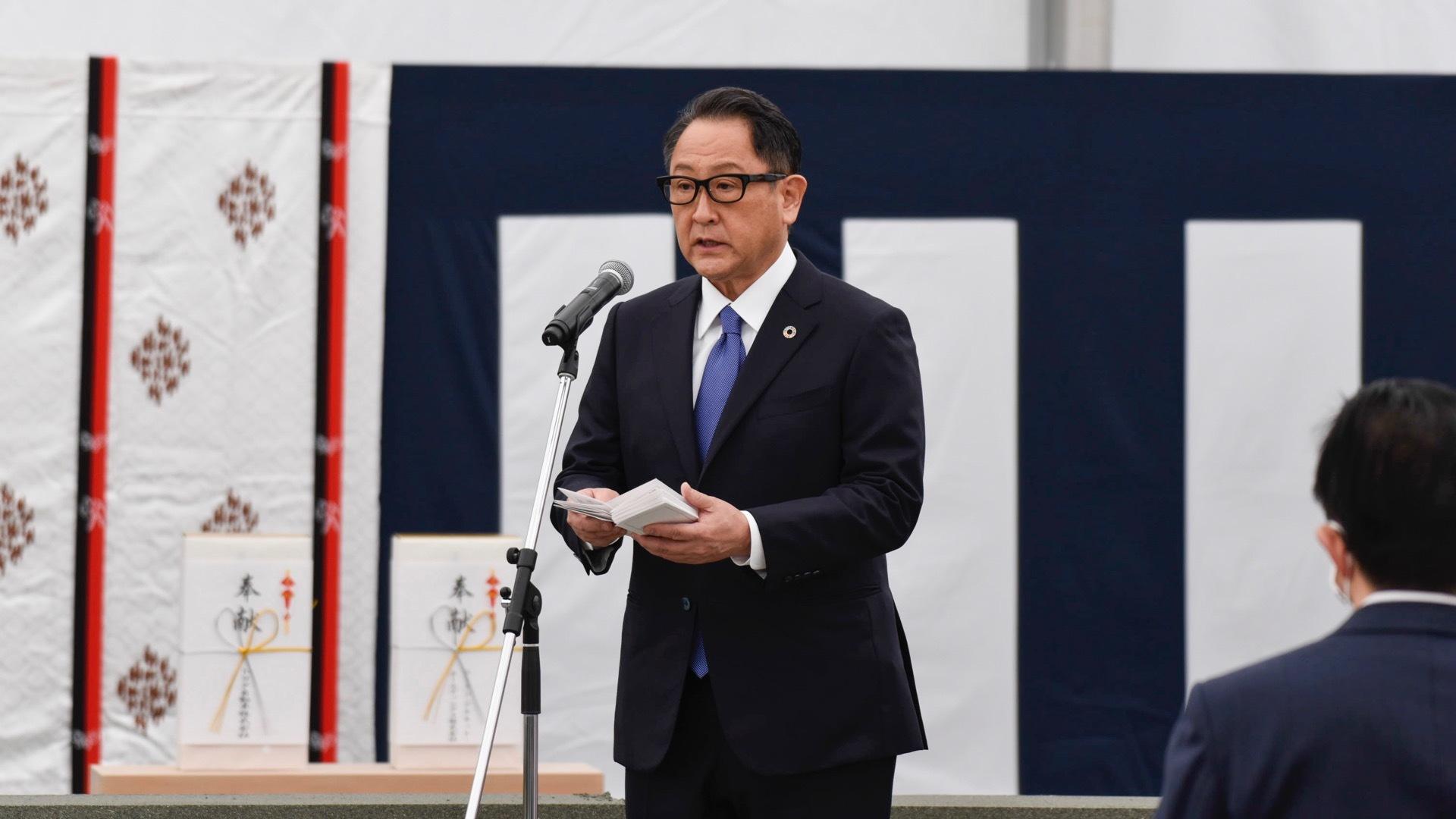 Toyota CEO Akio Toyoda at Woven City groundbreaking
