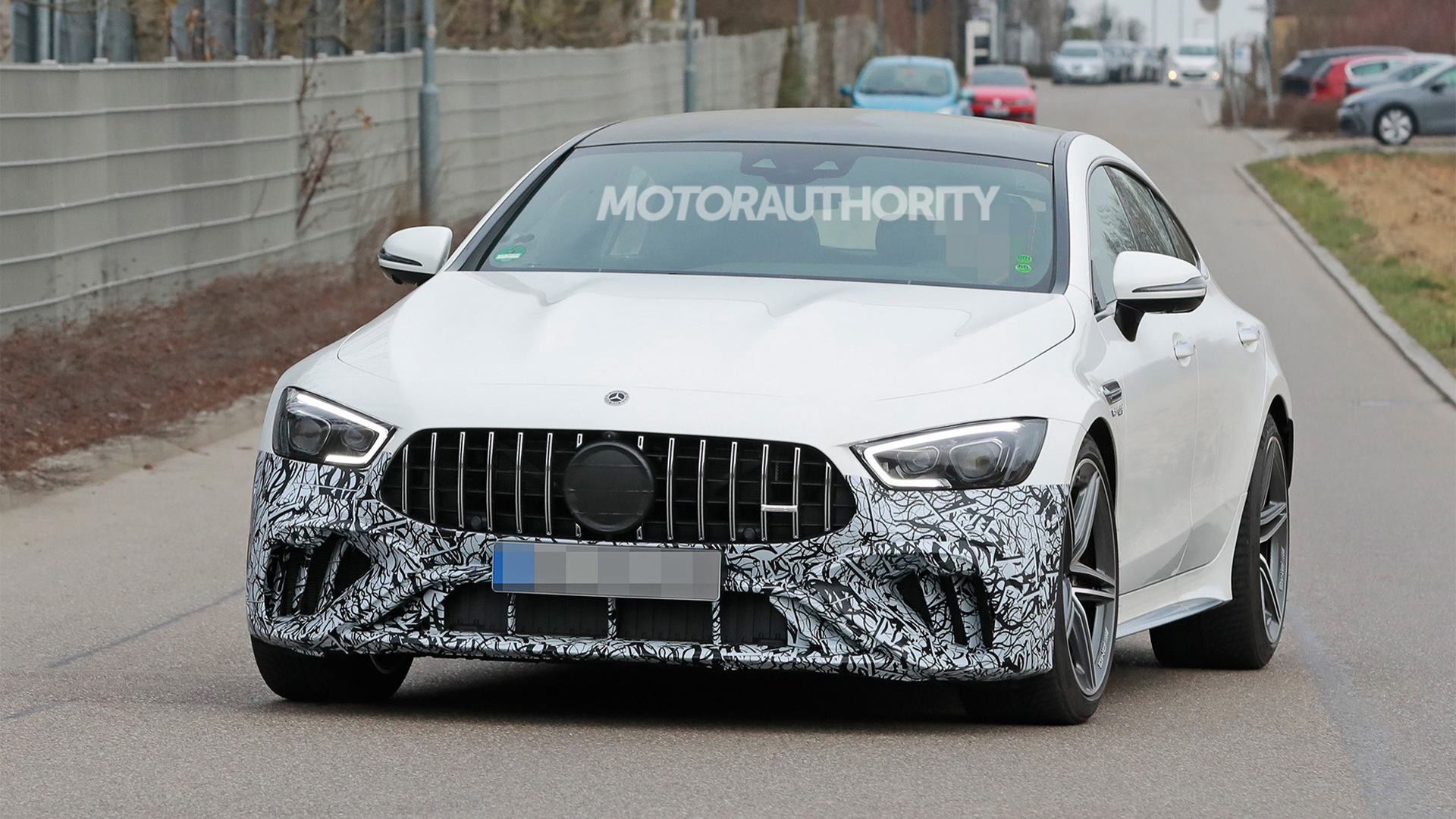 2022 Mercedes-Benz AMG GT 4-Door Coupe facelift spy shots - Photo credit: S. Baldauf/SB-Medien