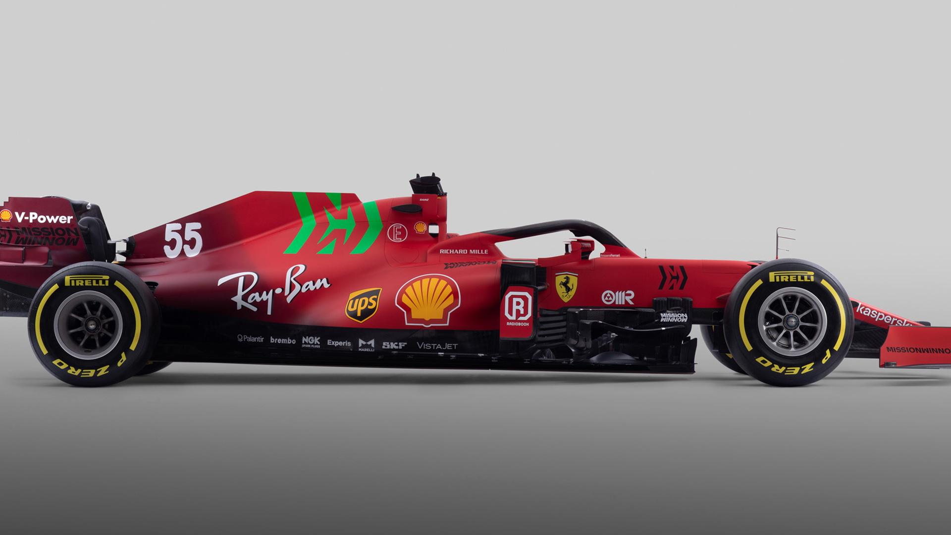 2021 Ferrari SF21 Formula One race car
