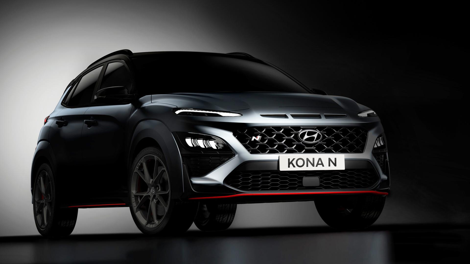 Teaser for 2022 Hyundai Kona N