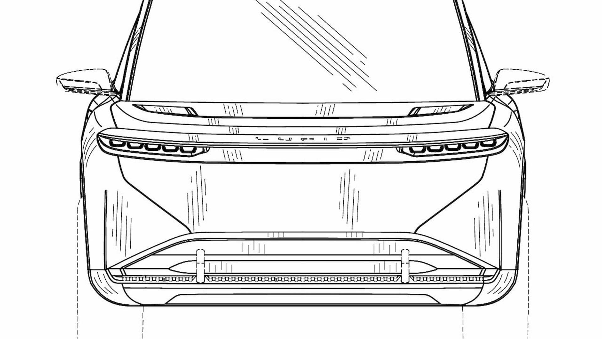 Lucid Gravity patent drawing - Photo credit: Lucid Forum/EUIPO