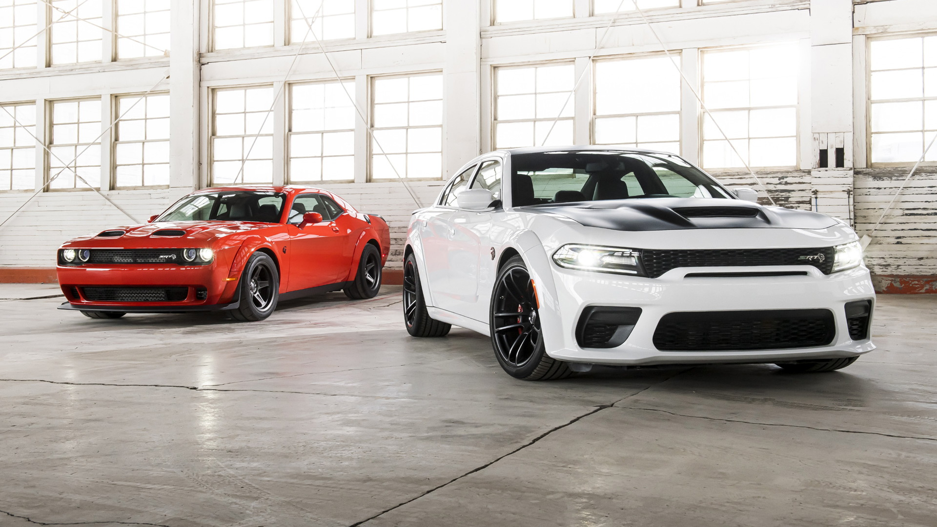2020 Dodge Challenger SRT Super Stock and 2021 Dodge Charger SRT Hellcat