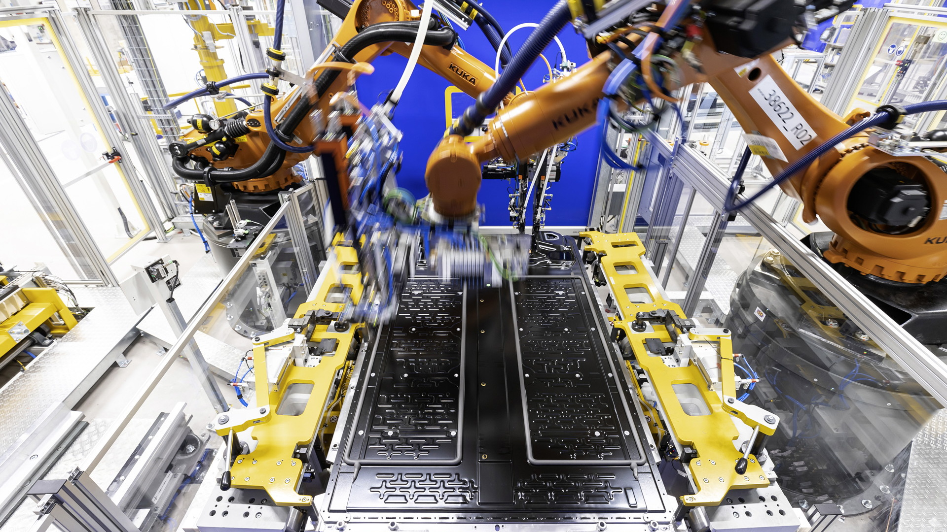Battery production at Mercedes-Benz's plant in Hedelfingen, Germany