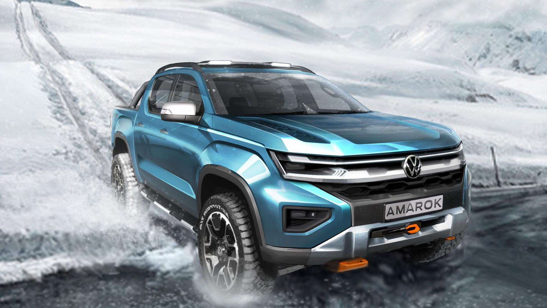 Teaser for 2022 Volkswagen Amarok