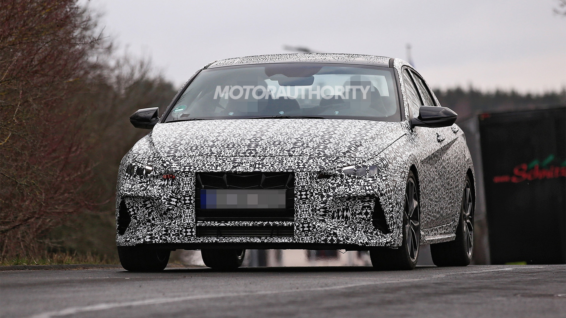 2022 Hyundai Elantra N spy shots - Photo credit: S. Baldauf/SB-Medien