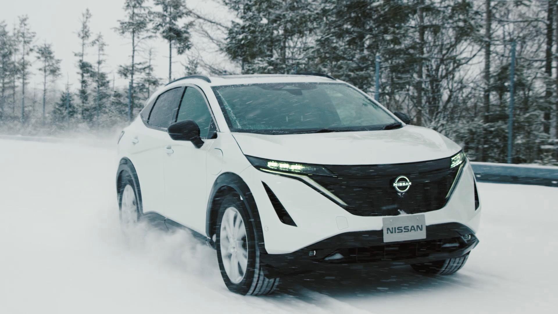 Nissan Ariya prototype testing