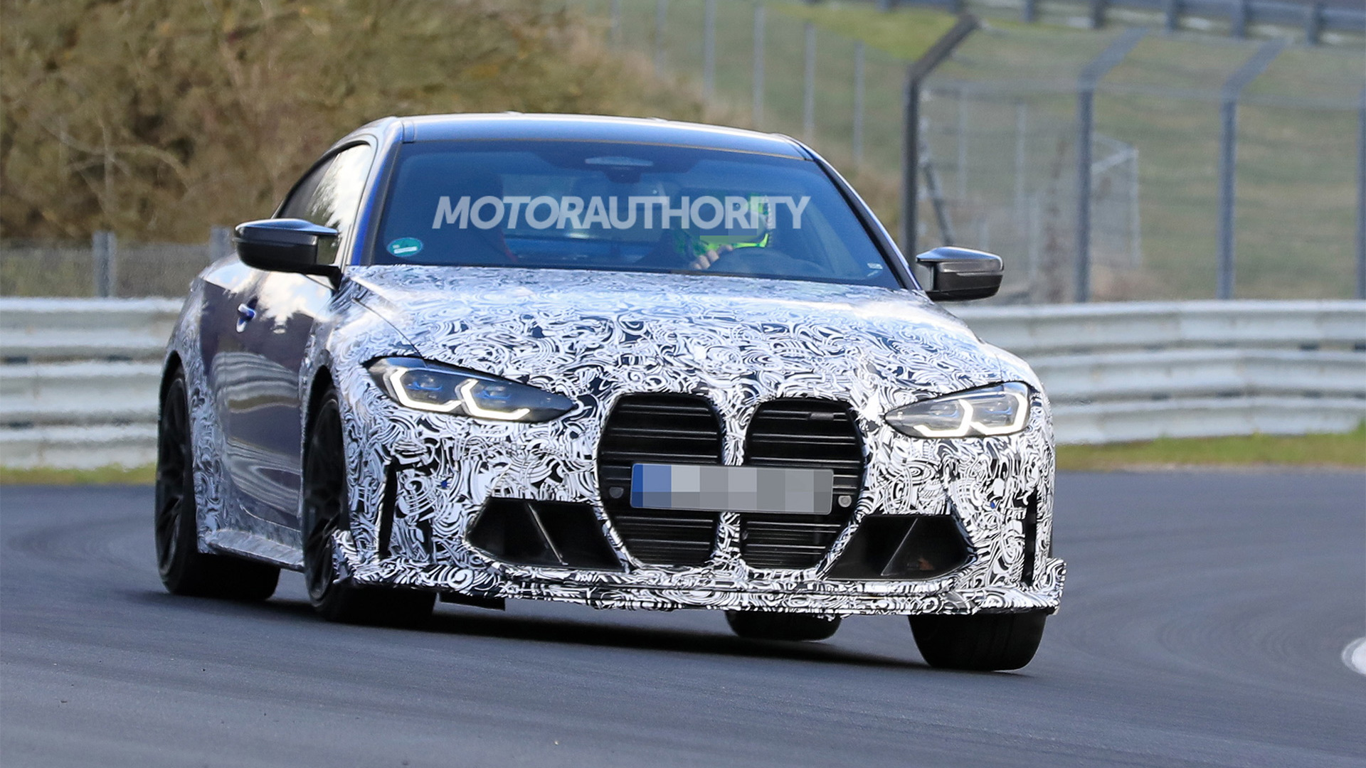 2023 BMW M4 CS spy shots - Photo credit: S. Baldauf/SB-Medien