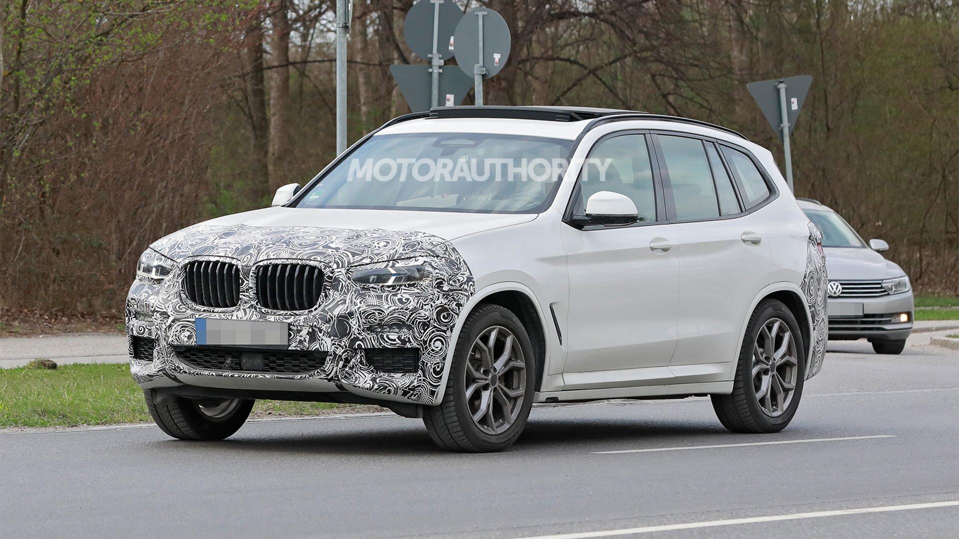 2022 BMW X3 facelift spy shots - Photo credit: S. Baldauf/SB-Medien