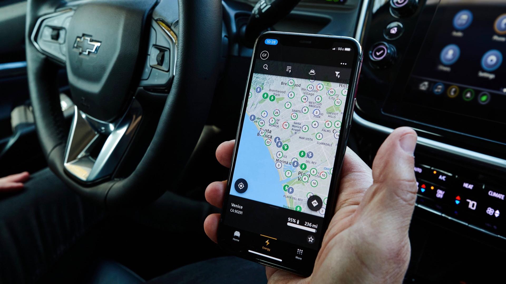 General Motors charging app