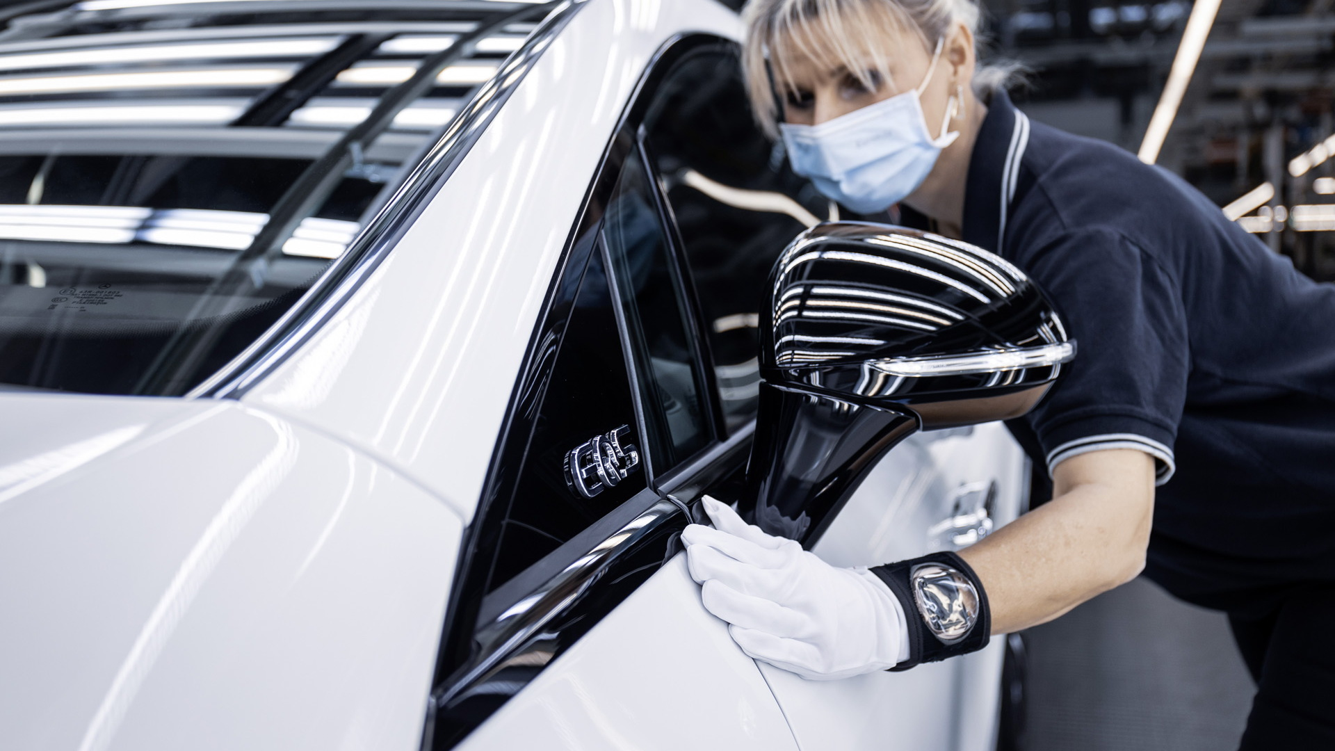 2022 Mercedes-Benz EQS production at plant in Sindelfingen, Germany