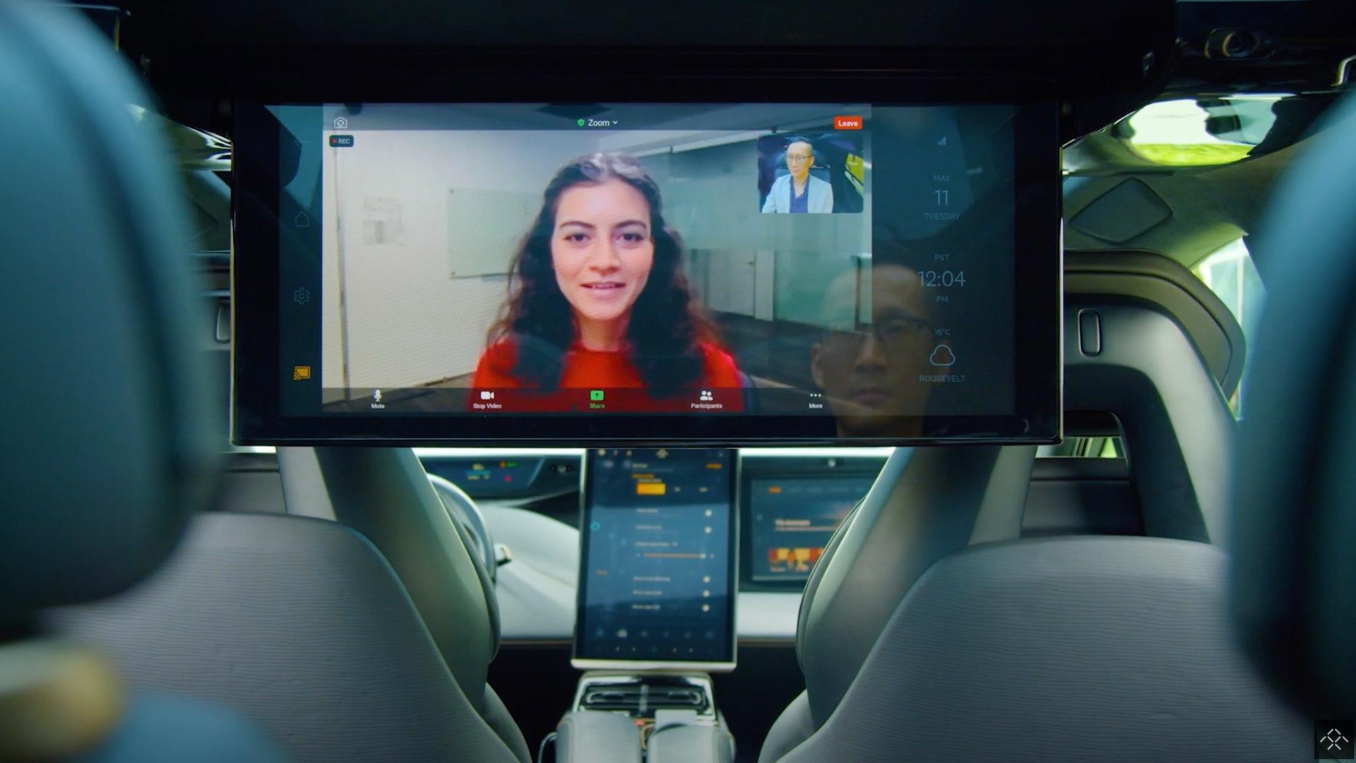 Faraday Future FF91 in-car videoconferencing