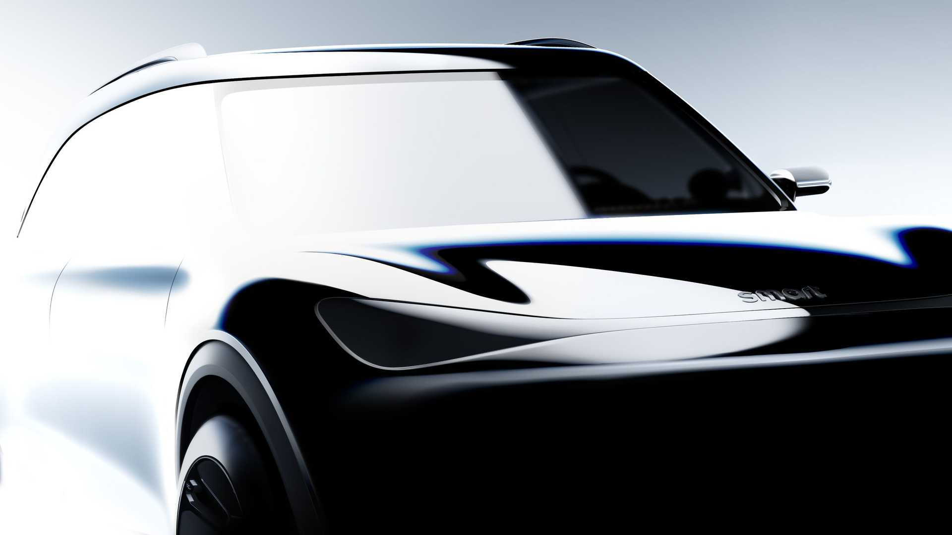 Teaser for Smart crossover concept debuting at 2021 Munich auto show