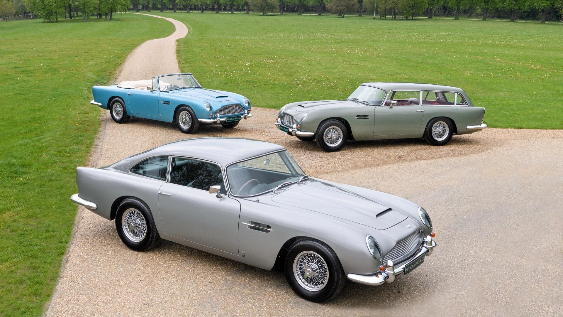 Aston Martin DB5 trio (Photo by Nicholas Mee & Co.)