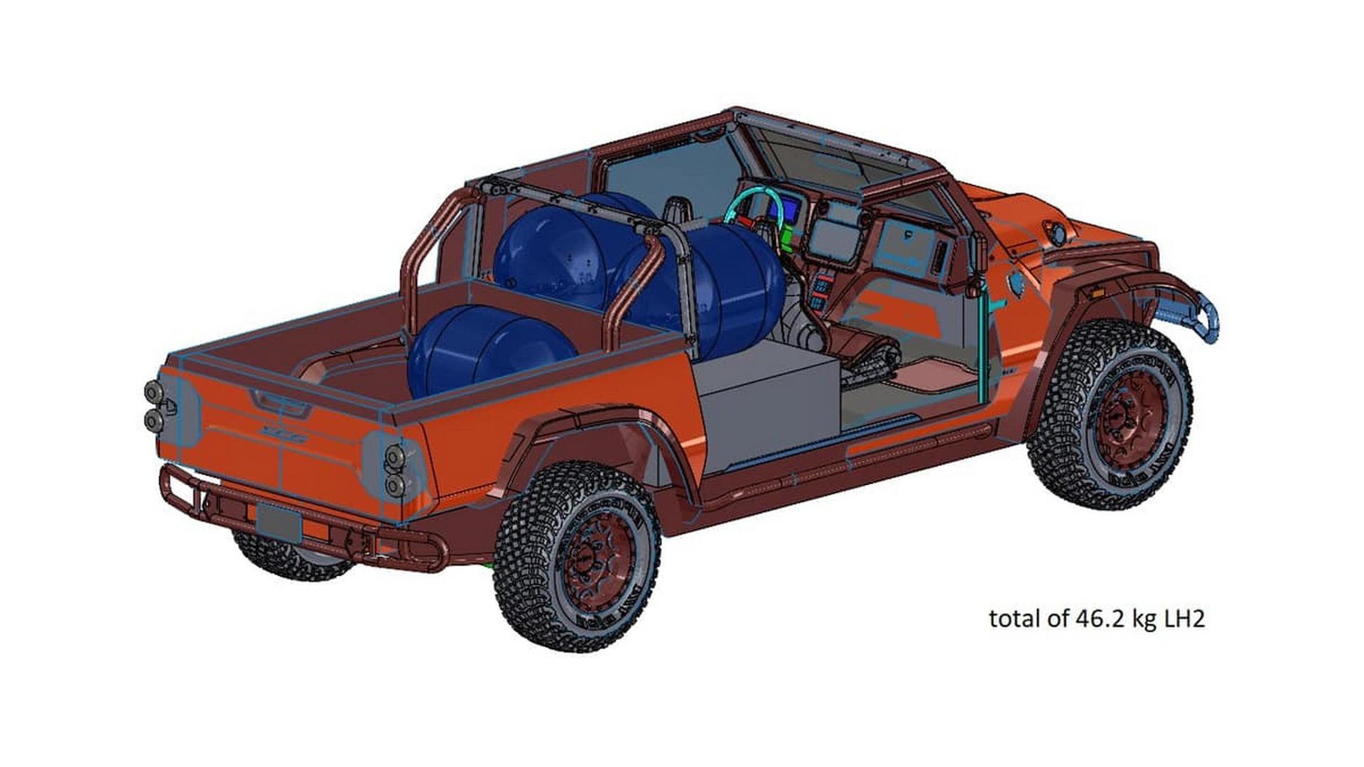 Glickenhaus Zero Emission Hydrogen Fuel Cell Boot Pickup concept