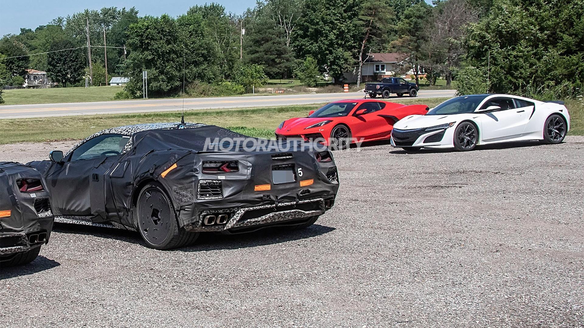 2023 Chevrolet Corvette E-Ray spy shots - Photo credit:S. Baldauf/SB-Medien