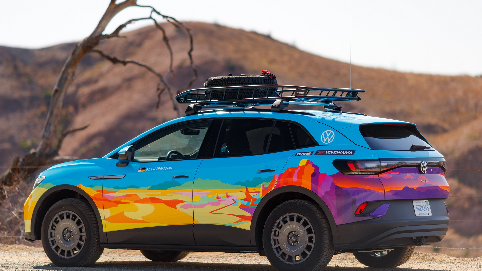 2021 Volkswagen ID.4 built for 2021 Rebelle Rally