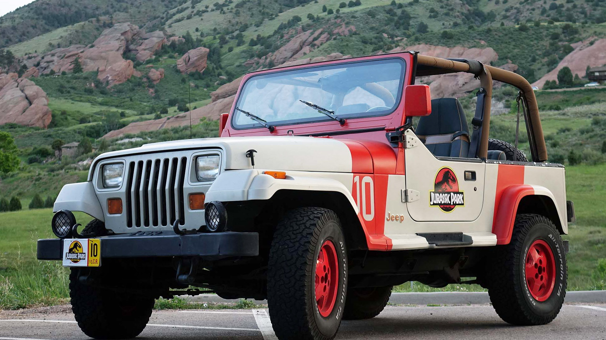 """Jurassic Park"" Jeep Wranglers at Dinosaur Ridge, Morrison, Colorado"