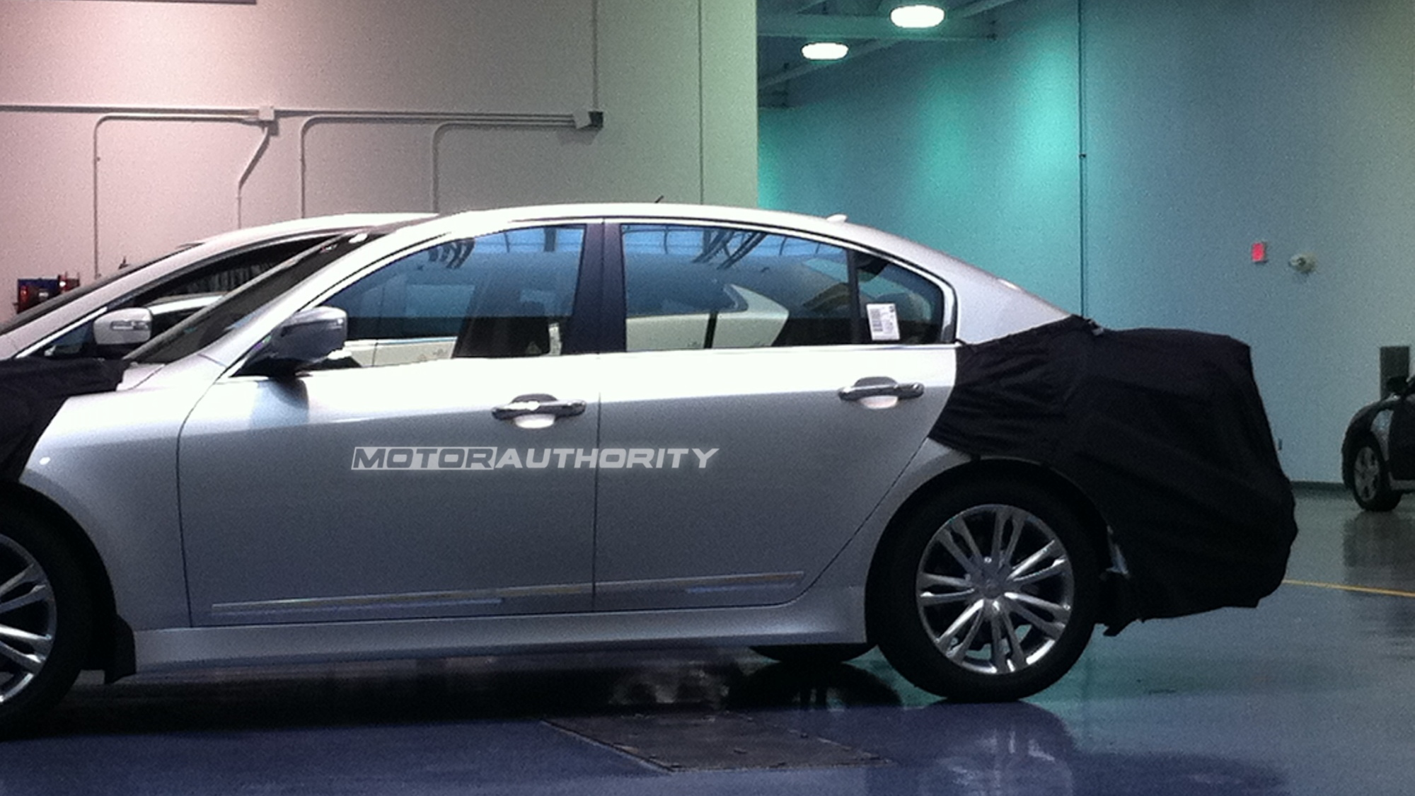 2012 Hyundai Genesis Sedan spy shots from inside Hyundai's Technical Center