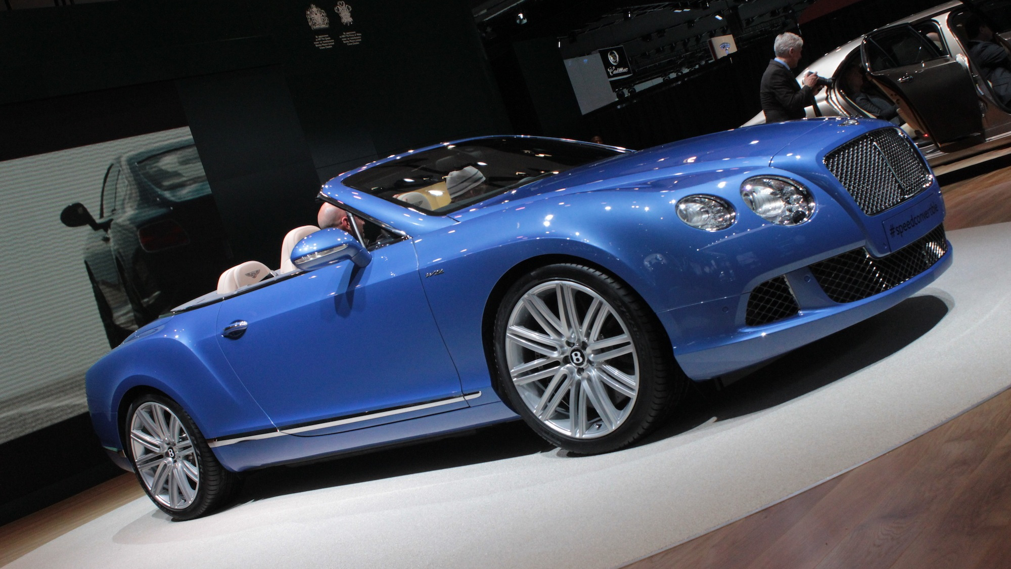 2013 Bentley Continental GT Speed Convertible live photos, 2013 Detroit Auto Show