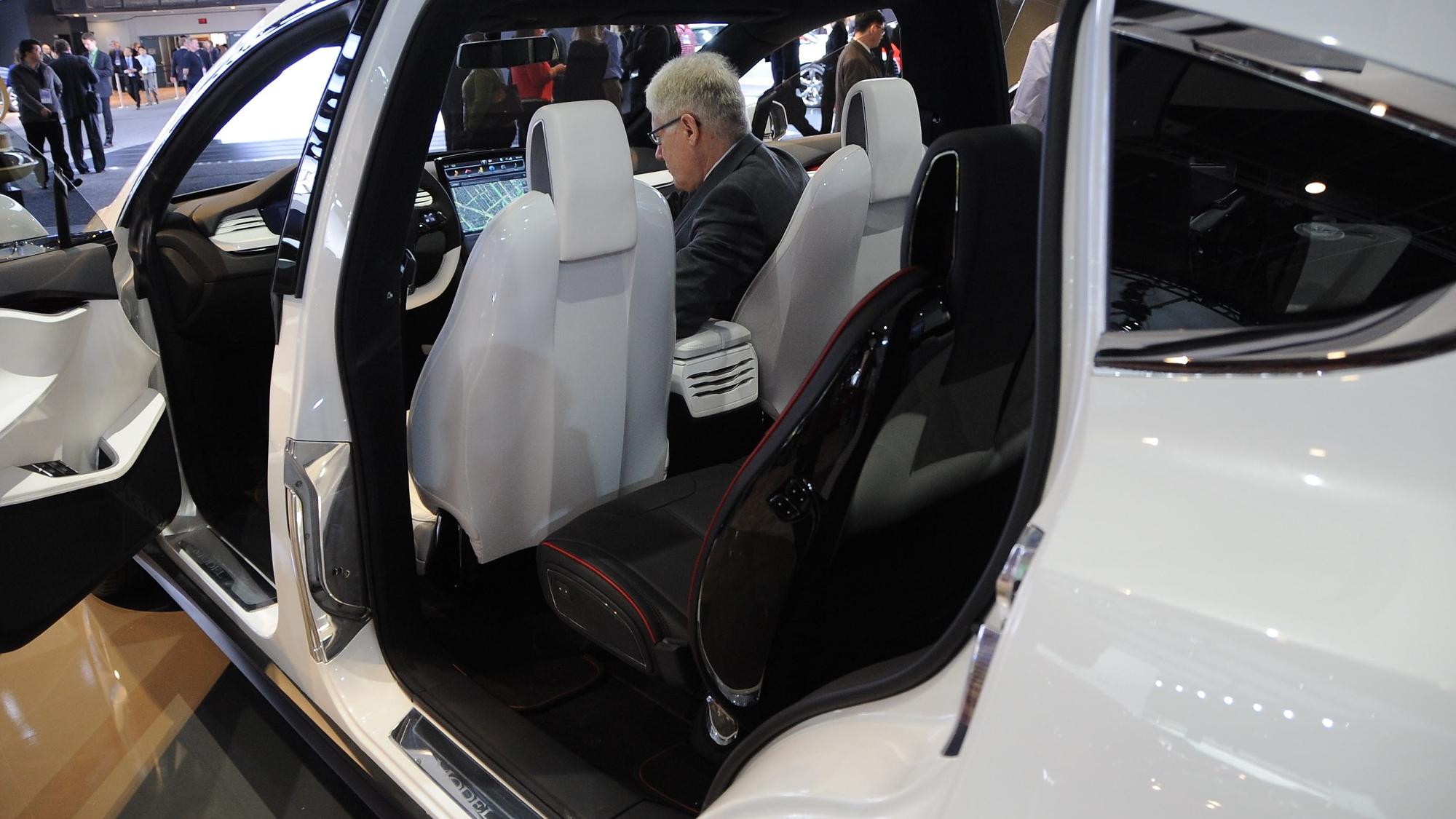 Tesla Model X at 2013 Detroit Auto Show