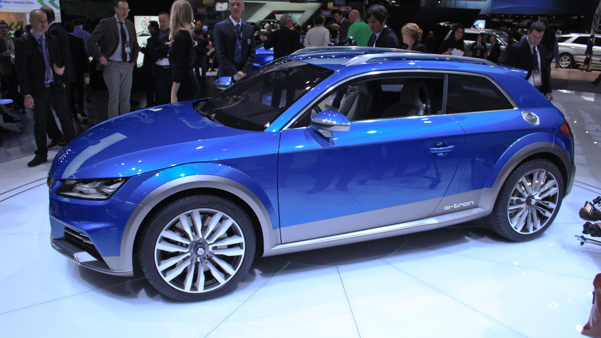 Audi Allroad Shooting Brake Concept live photos, 2014 Detroit Auto Show