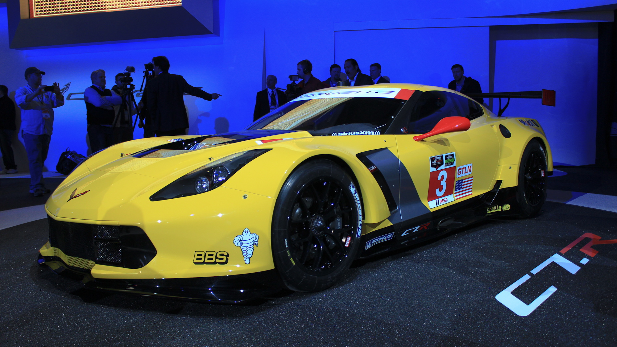 Corvette C7.R race car live photos, 2014 Detroit Auto Show
