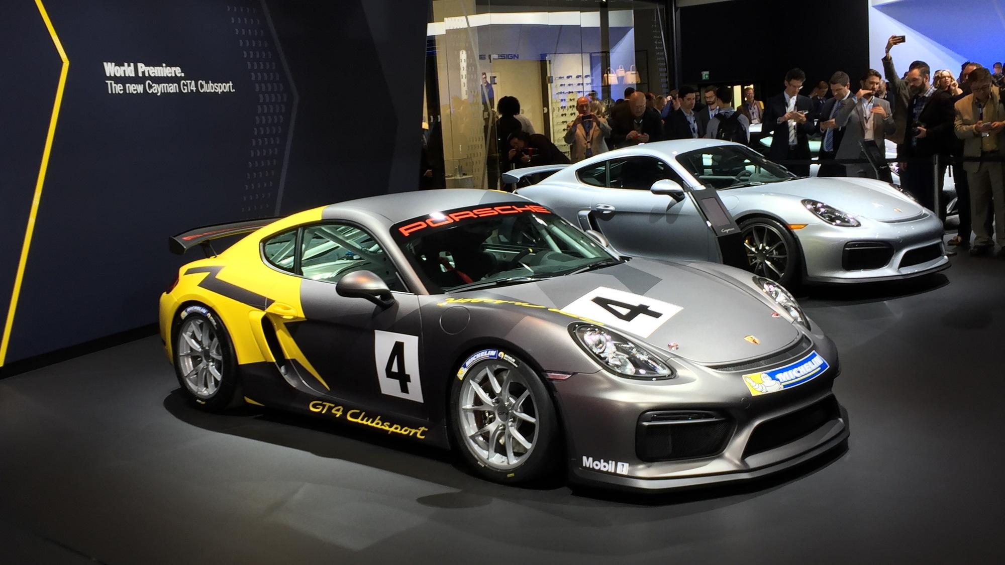 Porsche Cayman GT4 Clubsport, 2015 Los Angeles Auto Show