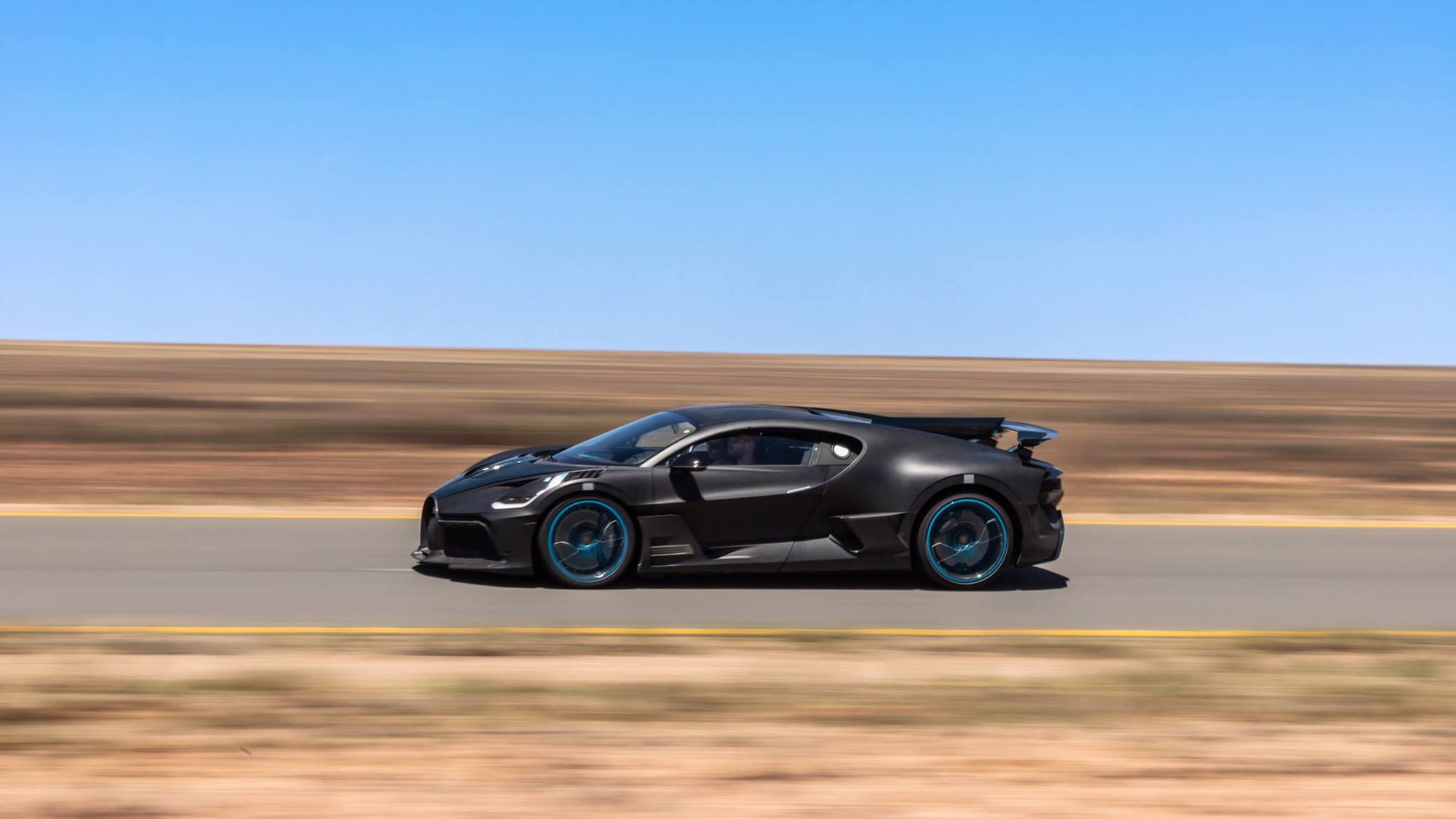 Bugatti Divo hot-weather testing