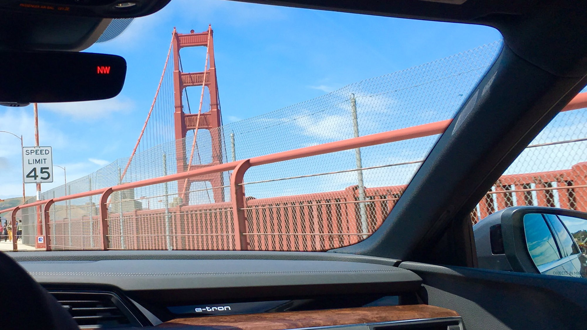 Audi e-tron, on the Golden Gate Bridge