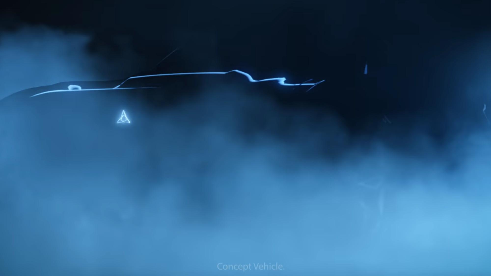 Dodge electric concept car teaser