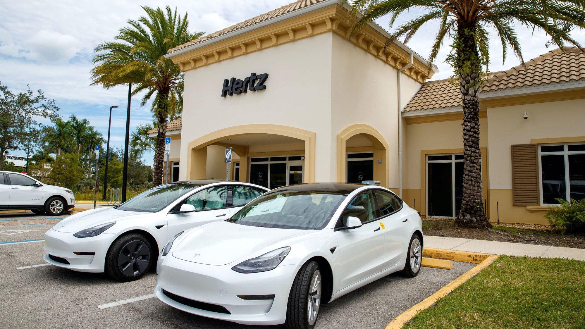Tesla at Hertz