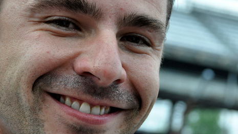 Oriol Servia earned third grid spot at the 2011 Indy 500 - Anne Proffit photo