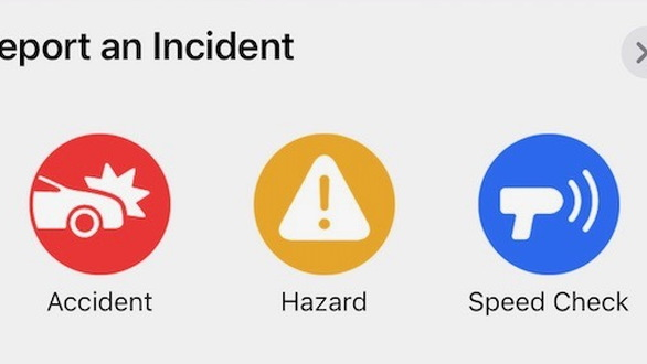 Apple Maps road hazard reporting