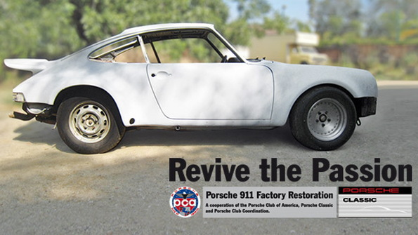 Porsche restoring 1973 911T Coupe for PCA giveaway
