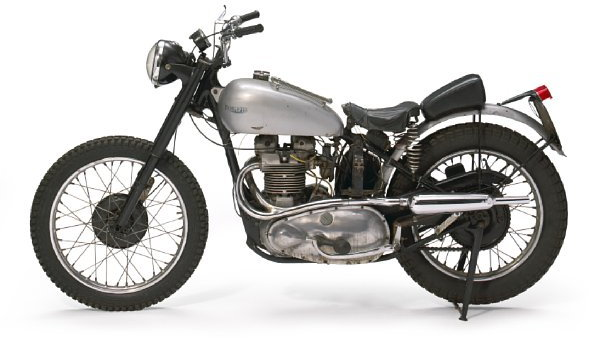 """The 1949 Triumph Trophy TR5 used in filming """"Happy Days.""""  Image: Bonhams Auctions"""