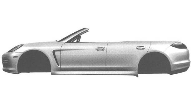 Porsche Panamera Convertible leaked patent images