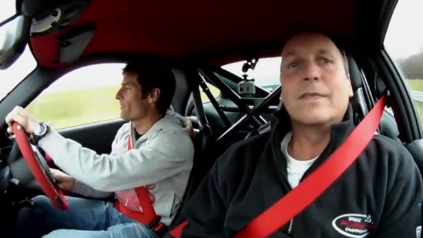 Mark Webber driving his Porsche 911 GT2 RS