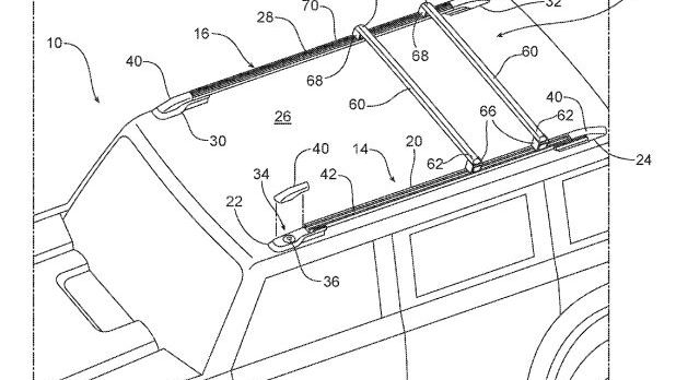 Ford Bronco roof and grille patents