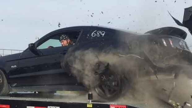 Mustang Tire Goes Boom