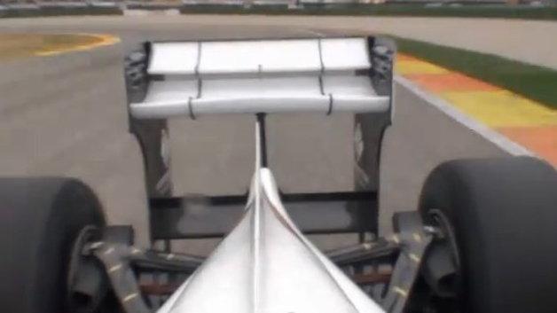 Sauber C30 active rear wing