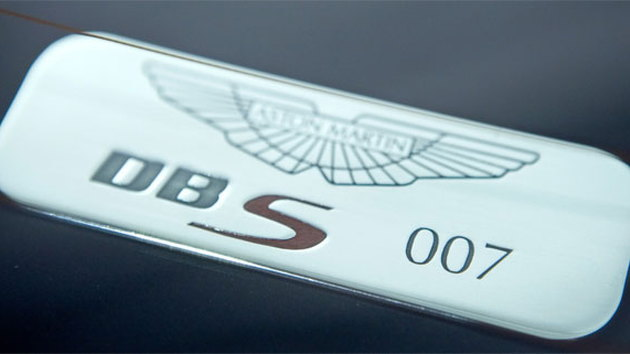 Appropriately numbered Aston Martin DBS badge