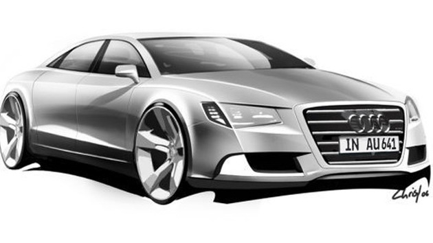 2011 Audi A8 official preview sketch