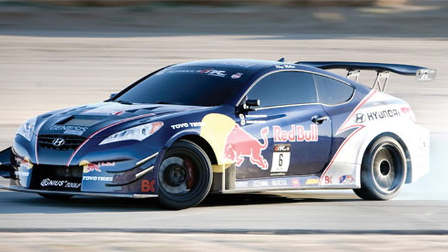 Hyundai Genesis Coupe Rhys Millen Racing Red Bull drift car