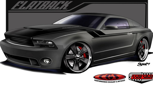 CGS Ford Mustang Flatback SEMA preview