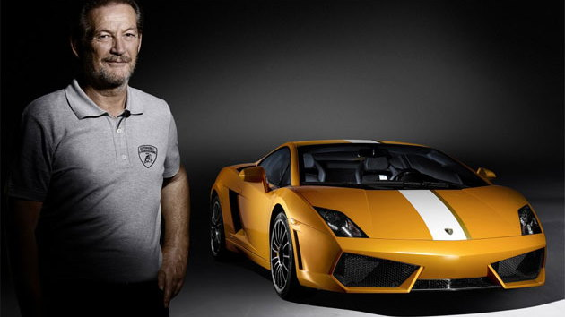 Valentino Balboni and his special-edition Gallardo LP 550-2