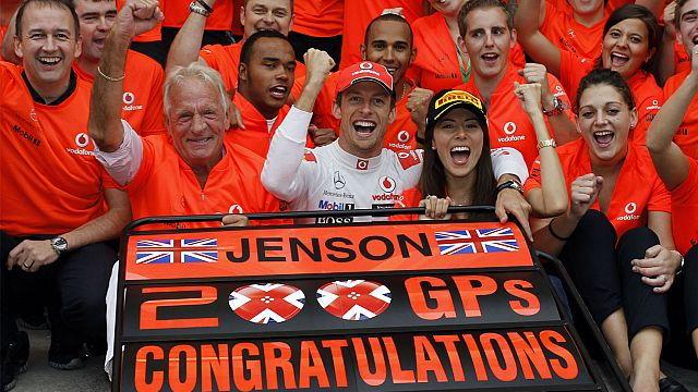 Jenson Button scores 200th Formula 1 GP win in Hungary