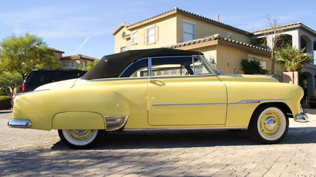 Steve McQueen's 1951 Chevy Styleline DeLuxe Convertible - image: Auctions America